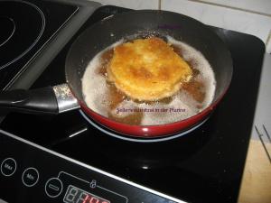 Sellerieschnitzel in der Pfanne