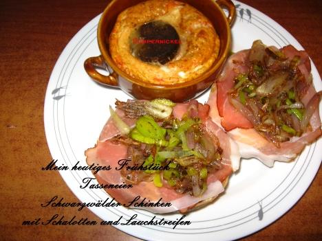 Schwarzwälder Frühstück dazu gab es Café aux lait