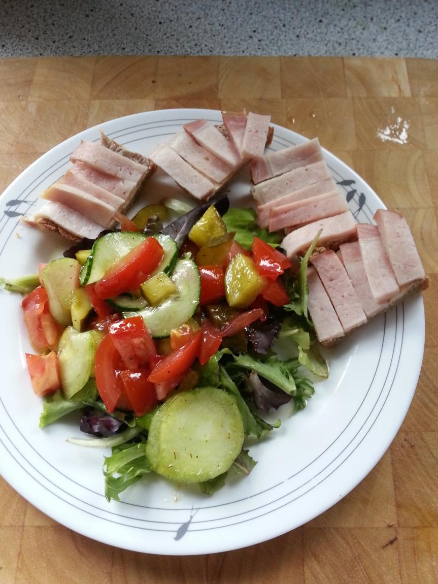 Salat mit Kasselerrücken-3